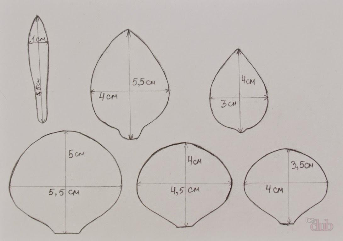 Как сделать выкройки цветов из фоамирана