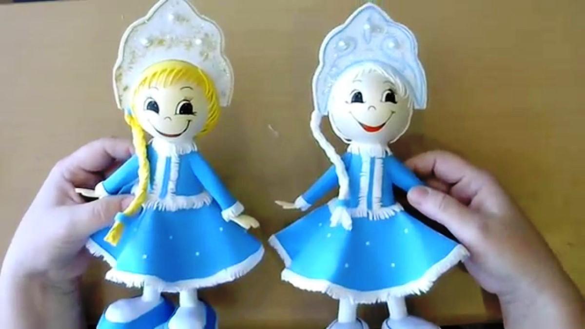 Куклы из фоамирана: мастер-класс, выкройки, фофуча, снегурочка, дед-мороз, обувь, как сделать, создание, идеи, игрушки, бантики, фото, видео 88