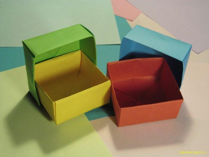 Как сделать коробочку из бумаги своими руками для себя фото 418