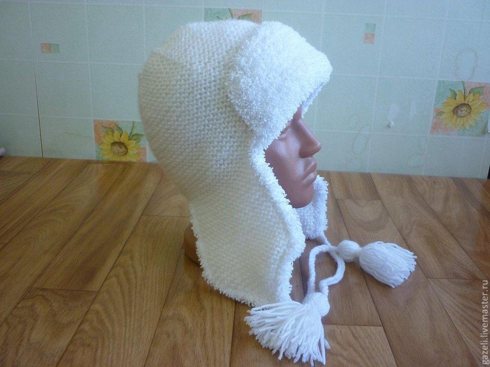 Как связать шапку ушанку женскую спицами. Вязание спицами ...