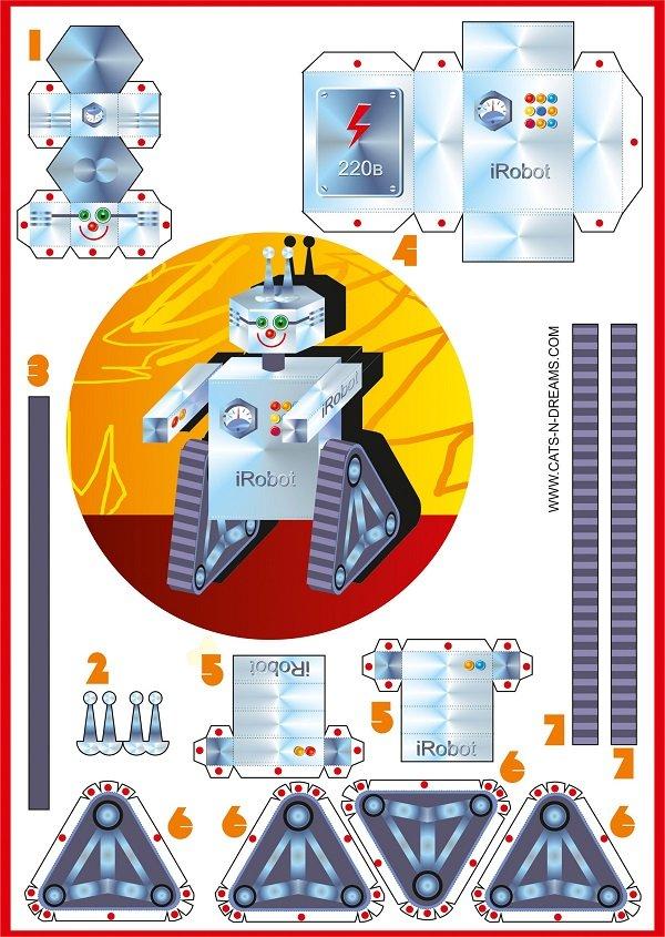 Робот Валли из бумаги - схемы для распечатывания