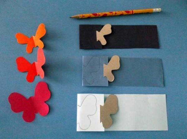 babochki-dla-dekora-12-600x448 Шаблоны цветов для вырезания из бумаги разных размеров. Бабочки из бумаги своими руками и трафареты для вырезания