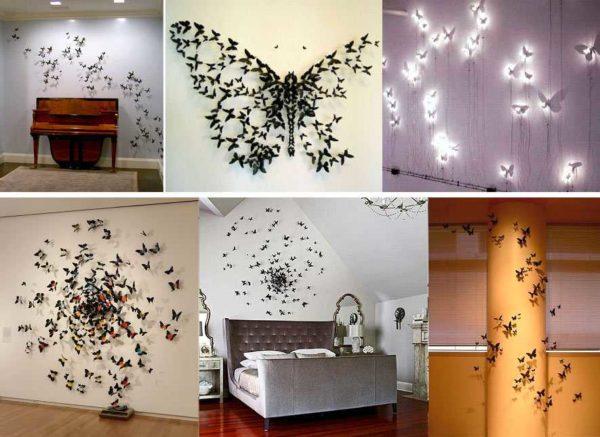 babochki-dla-dekora-22-600x437 Шаблоны цветов для вырезания из бумаги разных размеров. Бабочки из бумаги своими руками и трафареты для вырезания