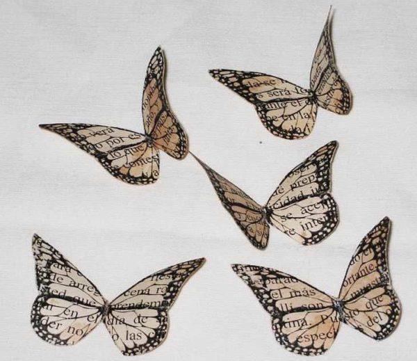 babochki-dla-dekora-7-600x519 Шаблоны цветов для вырезания из бумаги разных размеров. Бабочки из бумаги своими руками и трафареты для вырезания