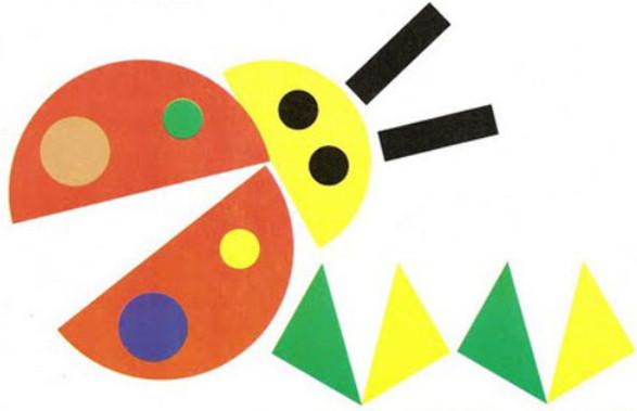 Applikatsiya-iz-geometricheskih-figur-shablony-3 Шаблоны аппликация машинка из цветной бумаги. Аппликация для самых маленьких из цветной бумаги: шаблоны