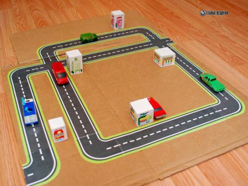 playground road for kids cars - 500×375
