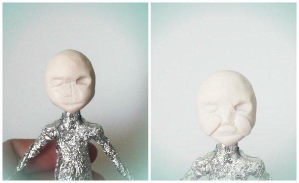 284_5 Шарнирная кукла своими руками из холодного фарфора, полимерной глины, запекаемого пластика, папье-маше. Как сделать куклу своими руками из холодного фарфора в домашних условиях