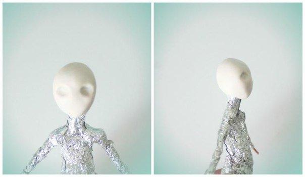 302_3 Шарнирная кукла своими руками из холодного фарфора, полимерной глины, запекаемого пластика, папье-маше. Как сделать куклу своими руками из холодного фарфора в домашних условиях
