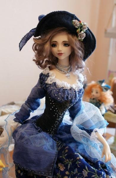 332_1 Шарнирная кукла своими руками из холодного фарфора, полимерной глины, запекаемого пластика, папье-маше. Как сделать куклу своими руками из холодного фарфора в домашних условиях