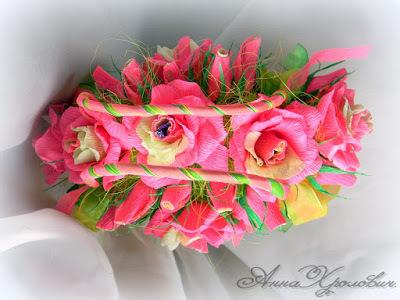 цветы с конфетами