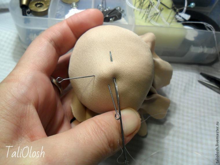 140917213957 Утяжка лица текстильной куклы подробно: мастер класс с видео