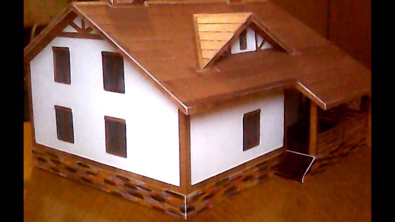 Здания из бумаги своими руками схемы 556