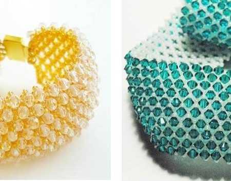 схемы браслетов широких из бисера мастер класс поделка изделие